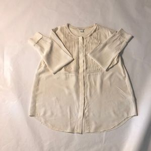 CLUB MONACO Silk long sleeve blouse